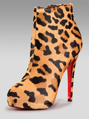 Leopard Print Louboutin Booties