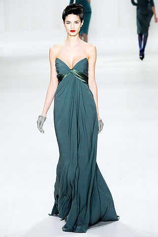Teal Elie Saab Evening Gown