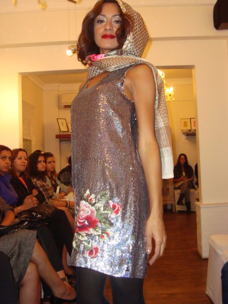 Manoush Silver Sequined Dress