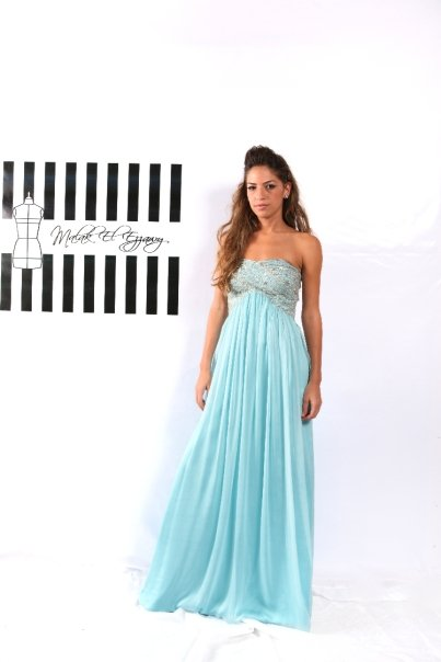 Light Blue Dreamy Embellished Gown