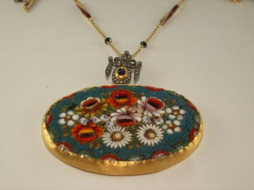 Sarah Abaza Oval Vintage Pendent