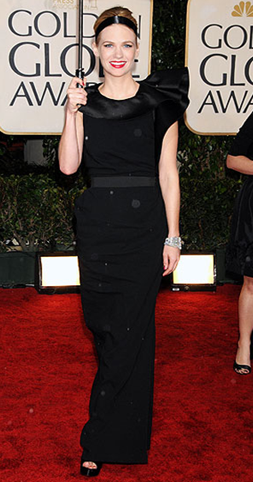 January Jones in a Black Lanvin