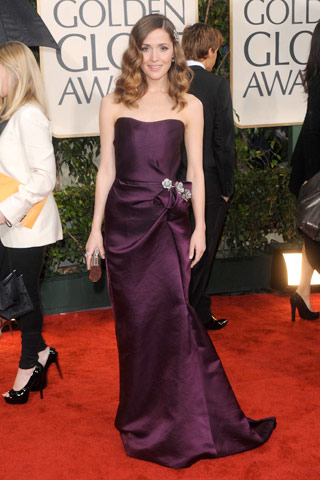 Rose Byrne in a plum Lanvin